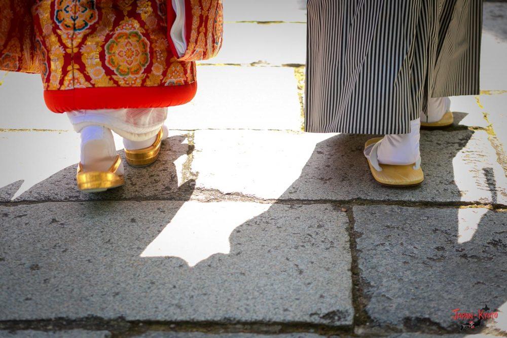 Geta vorwärts Füße