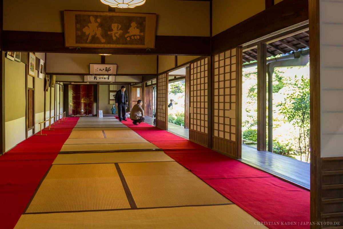Tojiin temple, Kyoto / Architecture, Architektur, Culture, Japan, Kansai, Kioto, Kultur, Kyoto, Rote Wolldecke, Tatami, Tempel, Temple, Teppich, Tojiin, Unterlage, carpet, mat, red carpet, rug, お寺, たたみ, 下敷, 京都, 仏教, 仏閣, 建築, 建築術, 敷物, 文化, 日本, 毛氈, 畳, 等持院, 緋毛氈, 関西