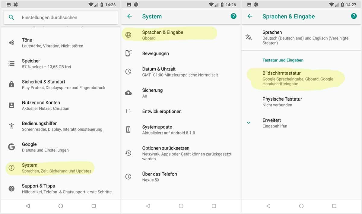 Google umstellen auf deutsch