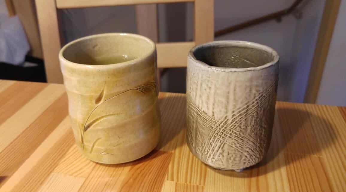 Zwei Oyunomi: Link 700 Yen, rechts 400 Yen